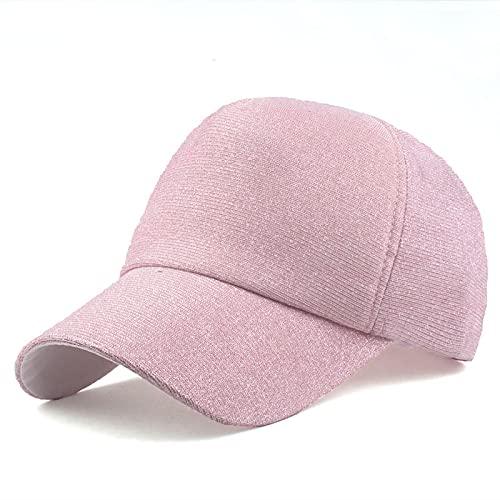 HutBaseball Kappe Sommer-Flash-Baseballmütze Neue Art und Weise hochwertige Pailletten-Hüte für Männer-Frauen-beiläufige Hip-Hop-Kappe einstellbar rosa