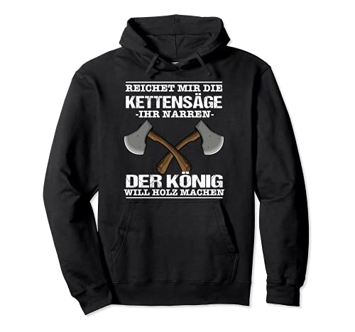 Waldarbeiter Holzfäller Outfit Forstwirt Fun Idee Pullover Hoodie