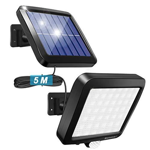 Solarlampen für Außen Solarleuchten mit Bewegungsmelder 120° Superhelle Solar Wandleuchte IP65 Wasserdichte...