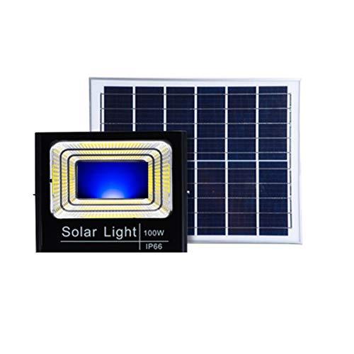 YROD LIGHT Solar Flutlicht AuBen Fernbedienung, IP66 Präzision wasserdichte Solar Strahler Garten, In Mehreren Farben Erhältlich Solarlampen Fuir AuBen Garten Deko(Color:Blau)