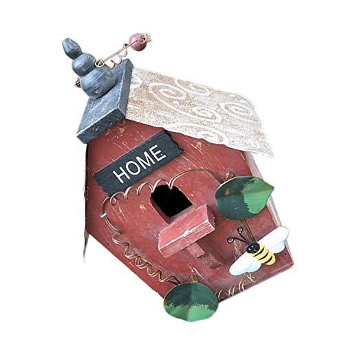 ROSEBEAR Vogelhaus aus Holz zum Aufhängen, regendicht, Vogelfutterhaus, dekoratives Vogelhaus für kleine Vogel Küken Spatzen
