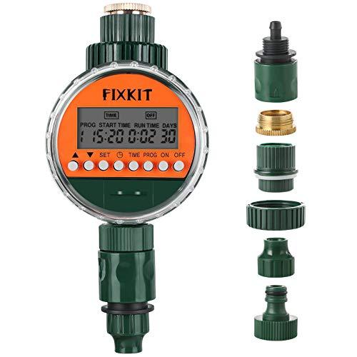FIXKIT Intelligenter Magnetventil Bewässerungscomputer, IP68 Schutzklasse Geplante automatische Bewässerung, Topfpflanzen Gemüsegarten Bewässerung