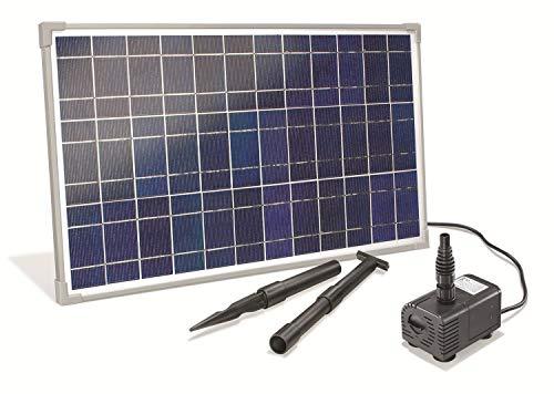 Solar Bachlaufset 25 Watt Solarmodul 1600 l/h Förderleistung 2,3 m Förderhöhe Komplettset Gartenteich,...