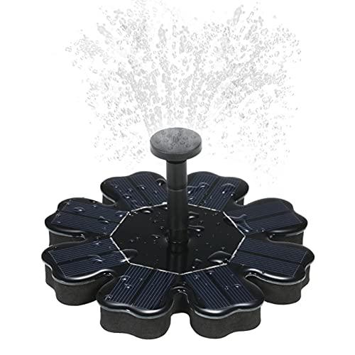AZYVv Springbrunnen Solar Springbrunnen Wasserspiel Solarpumpe Teich Mit Fontänenstile Solar Teichpumpe Schwimmender Fontäne Pumpe für Vogelbad Fisch-Behälter Teich Pool