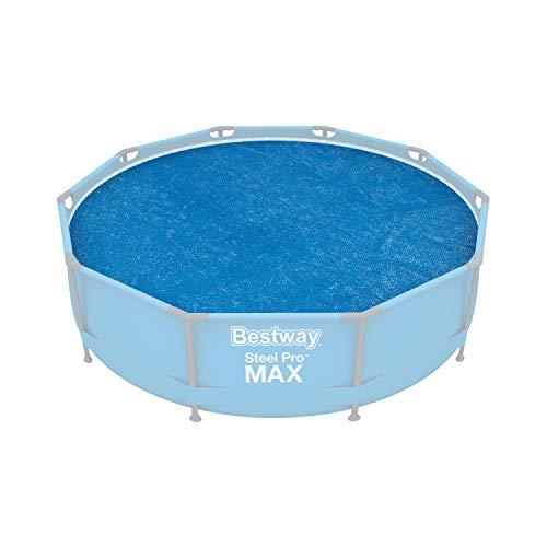 Bestway Flowclear Solarabdeckplane Ø 289 cm, für runde 305 cm Aufstellpools, blau