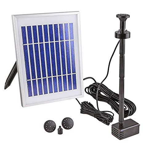 CLGarden Solar Pumpe Springbrunnen NKASP4 kleine Solarpumpe mit Akku und LED Teichpumpe für Miniteich...