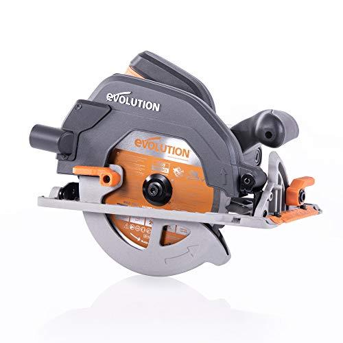 Evolution Power Tools 027-0003C Evolution Elektrowerkzeuge-R185CCS Mehrzweck-Kreissäge, 185 mm 230 V, 1600 W