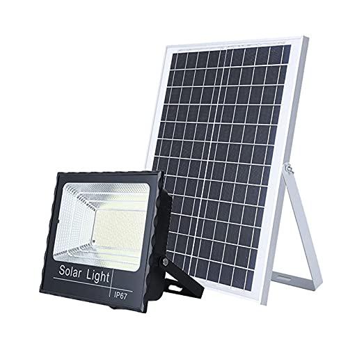 WKZ Solar Flutlicht Mit Fernbedienung 45W 65W 120W 200W,Korrosionsbeständiges ABS-Gehäuse Solarlampen Fuir AuBen Deko, solarleuchte Garten Smart Wasserdicht(Size:176 lamp Beads)