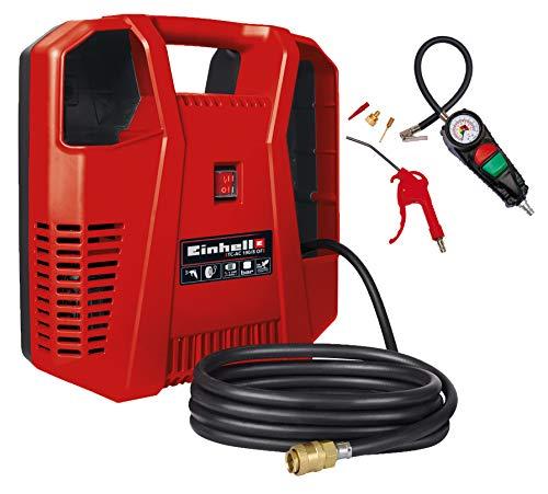 Einhell Kompressoren-Set TC-AC 190/8 OF Set (1.100 W, max. 8 bar, 3 m Druckluftschlauch mit Schnellkupplung,...