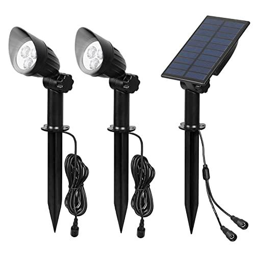 lxxiulirzeu Solargartenlicht 3000K / 6000K IP65 Solar Power Light Outdoor Solarlampe Solar Wandleuchte für Gartendekor Solar Strahler (Emitting Color : Cold White)
