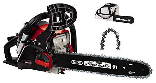 Einhell Benzin-Kettensäge GC-PC 1435 I TC Kit (OREGON-Qualitätsschwert und –kette, werkzeuglose Kettenspannung und Kettenwechsel, Auto-Choke und Primer, inkl. Schwertschutz)
