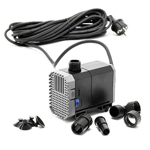 SunSun CHJ-1500-10 Teichpumpe 1500l/h 25W, als Filter- oder Bachlaufpumpe, Kabellänge 10m