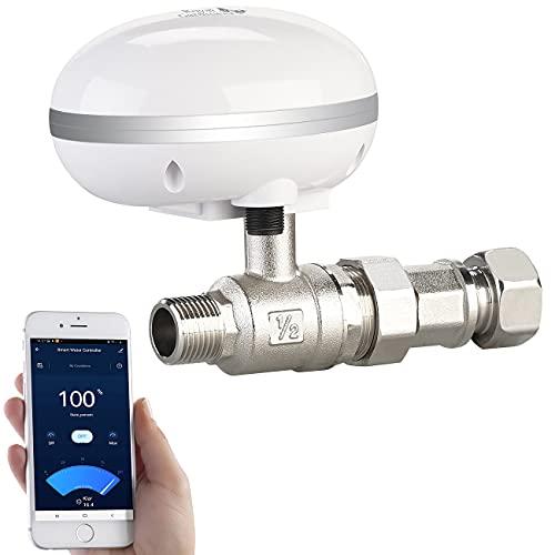 Royal Gardineer Drosselventil Wasser: WLAN-Bewässerungscomputer mit Durchfluss-Regelventil und App-Steuerung (Steuergeräte Garten-Bewässerung)