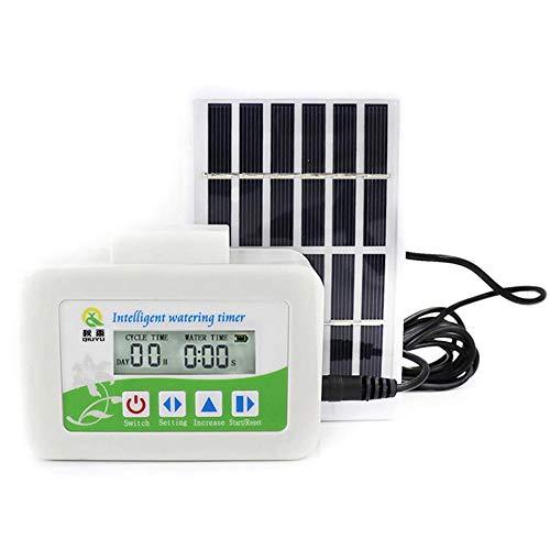 Opfury Bewässerungssystem,Solar Intelligentes Bewässerungs Timer Set Sonnenbeständiges, korrosionsbeständiges, verschleißfestes Garten oder Topfpflanzen bewässerungsset