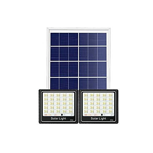 Ssrsgyp Doppelkopf Solar Flutlichter Außen Fernbedienung Sicherheit Solarleuchten Getrennte Sonnenkollektoren Wegeleuchten Für Shed Barn Yard Pool Gartengarage(Size:112 LED)