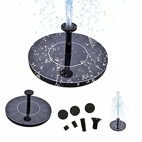 Solar Vogeltränke Springbrunnenpumpe, 1,4 W Solar Springbrunnen Wasserpumpe mit 4 Düse, freistehend schwimmende solarbetriebene Wasserbrunnenpumpe für Vogelbad, Garten, Teich, Pool, Outdoor