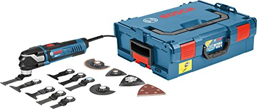 Bosch Professional 0601231001 Multi-Tool GOP 40-30 mit 16 tlg. Zubehör-Set, 400 Watt, Starlock, L-Boxx, W,...