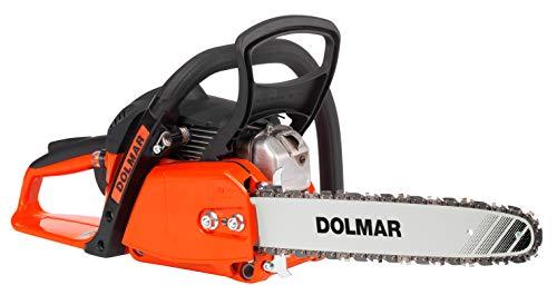 Dolmar Benzin Kettensäge (Hubraum 32 cm³, 1,8 PS, Kraftstofftank-Inhalt 400 ml. Schienenlänge 40 cm, Kette...