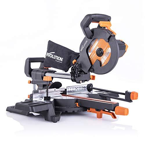 Evolution Power Tools - R210SMS-300+ Mehrzweck-Gleit-Gehrungssäge mit Plus Pack, 210 mm (230 V)