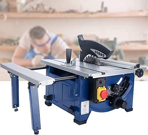 Tragbare Tischkreissäge , Einziehbare Tischsäge, professionelle holzbearbeitende Bankkreissäge, 1800 Watt leistungsstarker Motor, Schnitttiefe 0-45 mm und 45 °;Winkel für Holzplatte, Aluminium, PVC, a