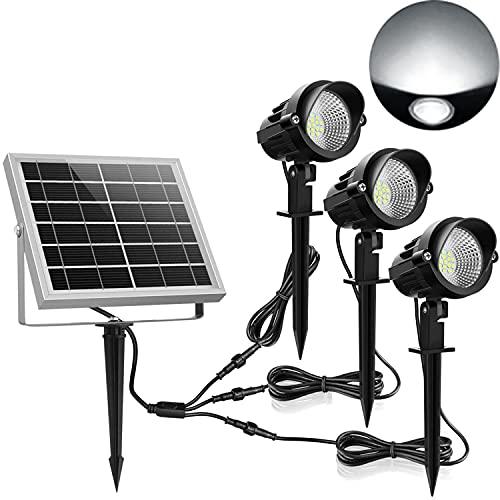Solar Gartenleuchte MEIKEE 450LM Garten Solarstrahler IP66 Wasserdicht LED Solarlampe Außen Solarleuchte 3...