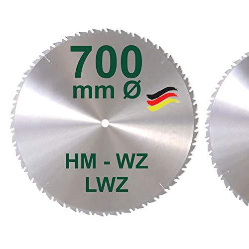 HM Sägeblatt 700 x 28 mm LWZ Hartmetall Präzision Kreissägeblatt 700mm Wechselzahn mit Spanabweiser für...