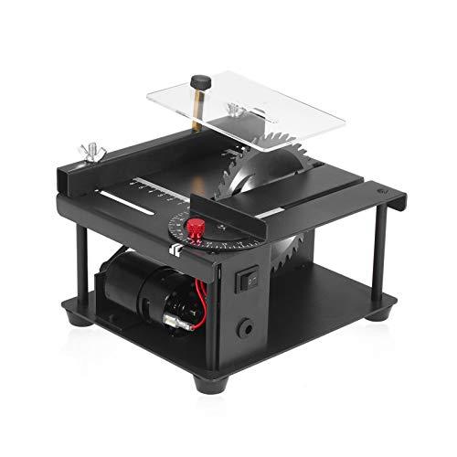Lifcasual Mini Tischkreissäge-Schneidset mit Einstellbarer Geschwindigkeitssägeblatt, 0 ° -90 ° Winkeleinstellung, 110-240 V, 35 mm Schnitttiefe, für die Heimwerker-Holzbearbeitung