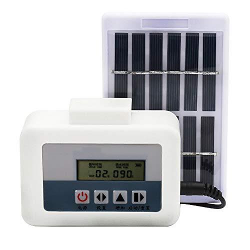 HS-Zak Miller Automatische Bewässerungssystem, Solar Intelligent Tropfbewässerungsanlage Auto Bewässerungsanlage Timer Set, Regen Proof/Geringer Stromverbrauch (Mit Solarpanel)