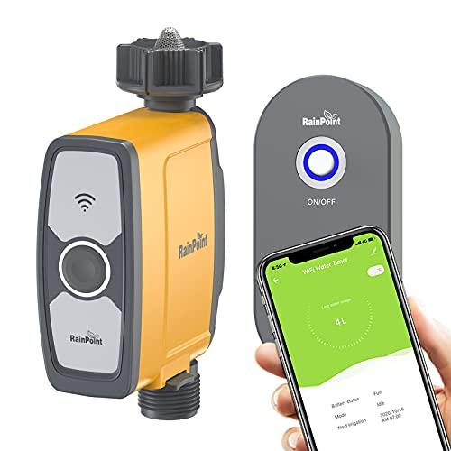 RAINPOINT Bewässerungscomputer WiFi, Garten Bewässerungsuhr mit App/Sprachsteuerung, Wasserdicht...