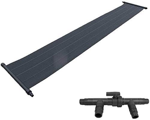 well2wellness® Eco Solar Set Pool Solarmatte Solarheizung 'Power' 6,0 x 0,6m Plus 3-Wege Solarweiche