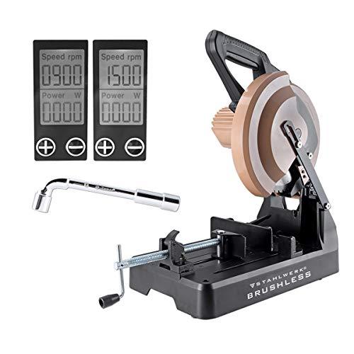 STAHLWERK Holz- und Metalltrennsäge MT-3 ST Kreissäge Gehrungssäge mit 3000W Leistung und verschleißfreiem Brushless Motor, leistungsstark, ruhiger Lauf und Digital Display