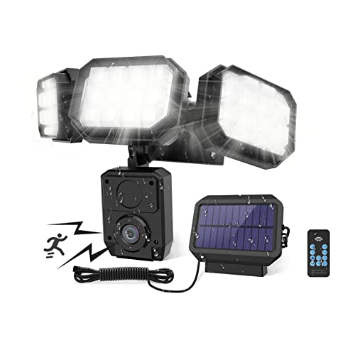 Ankishi Solarlampen für Außen mit Bewegungsmelder, 120 LED Solarleuchte Aussen, IP65 Wasserdicht 270° Dreiseitige Beleuchtung 3 Modi Fernbedienung Solar Außenwandleuchten für Garten Patio Garag