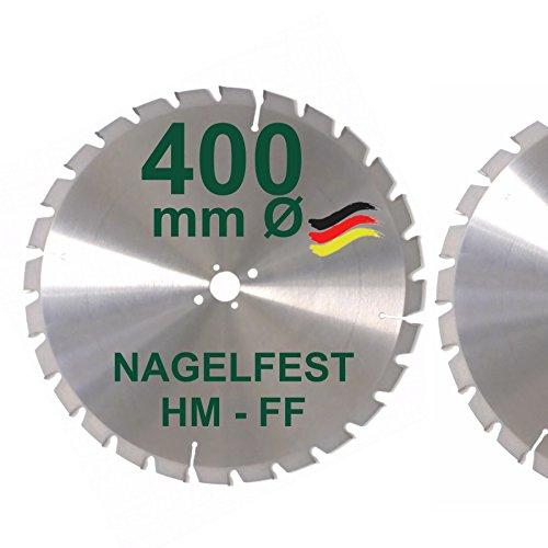 HM Sägeblatt 400 x 30 mm NAGELFEST FF Hartmetall FSP Kreissägeblatt 400mm für Bauholz Brennholz Schalholz...