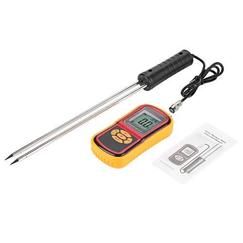 Digitales Feuchtigkeitsmessgerät GM640, Kornfeuchtigkeitstester mit Messsonde, LCD-Hintergrundbeleuchtung für Weizenreis-Maisbohnen usw.