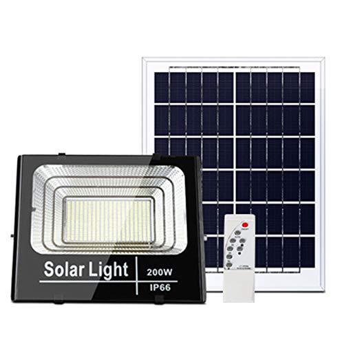 HAI solar flutlicht aussen Mit 3 Modi, Lichtsteuerung Induktion solar strahler auBen, Solarwandlampen Im Freien Garten Für Den Innenhof Square(Size:200W)