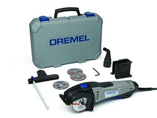 Dremel DSM20 Kompaktsäge 710W Handkreissäge Set (mit 6 Zubehören und 1 Staubsaugeraufsatz, zum Sauberen...