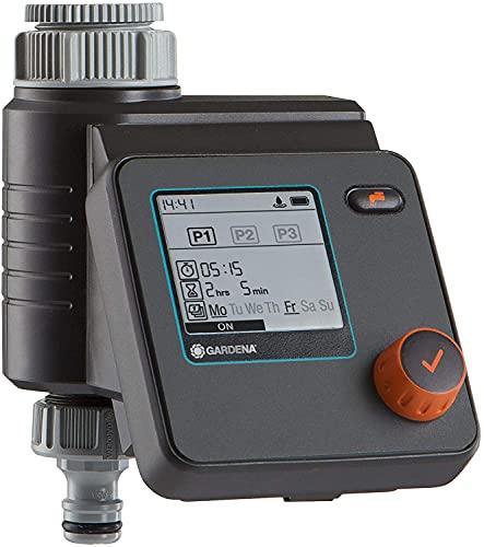 Gardena Bewässerungscomputer SelectControl: Bewässerungssteuerung, fünf Programmieroptionen, Batteriebetrieb, kompatibel mit allen gängigen Gardena Bewässerungssystemen (1891-20)