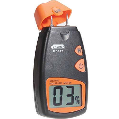 Feuchtigkeitsmessgerät, Dr.meter holz feuchtigkeitsmessgerät, tragbar, 2 Pins, HD DIGITAL LCD-Display mit 2 Ersatz-Pins und einer 9V-Batterie (zwei inklusive) Messbereich: 5%-40%, Genauigkeit:+/-1%