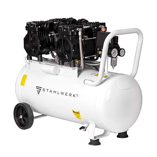 STAHLWERK Druckluft Kompressor ST 510 pro Flüsterkompressor mit 50 L Kessel und 10 Bar, verschleißfreier Brushless Motor, ölfrei, leise und wartungsarm