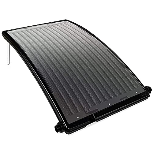 VINGO Poolheizung Sonnenkollektor Schwarz 110 x 69 x 14 cm Speedsolar Solarheizung für Pool Solarkollektor