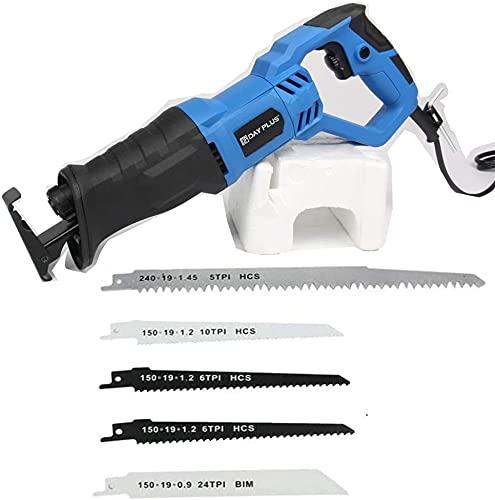 Professional Elektrische Säbelsäge 900W,Universalsäge Reciprosäge max.160 mm Schnitttiefe,Ideal zum Schneiden von Holz & Metall,inkl.4x Säbelsäge Säbelsägeblatt,LED Licht,0~2800 SPM