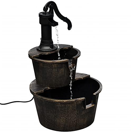 FAMIROSA Kaskadenbrunnen Handwasserpumpe-Design