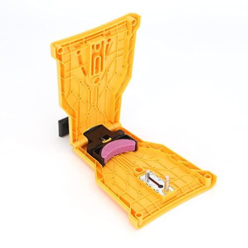 Dhouse Kettensägenschärfgerät Kettensägenschärfgerät Führungsschienenschärfgerät Für die Holzbearbeitung Kettensäge Kettenschärfgerät (Gelb)