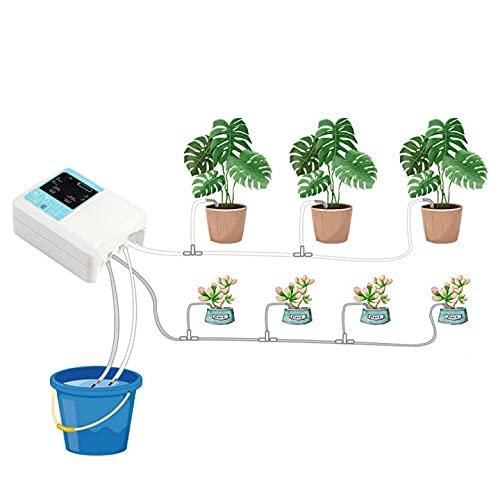 LifBetter Solar-Bewässerungsgerät, automatische Bewässerung, zum Aufladen der intelligenten Solarenergie im Topf, Timer mit Wasserpumpe (Doppelpumpe 3)