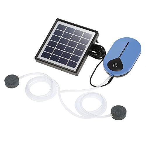 Decdeal Sauerstoffpumpe Luftpumpe Teichbelüfter solar 0,5 l/min bis 0,9 l/min 3.7V 3600mAh 18650 Lithium Akku...