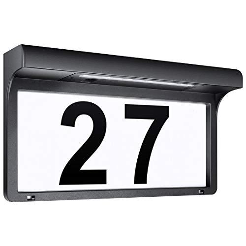 LeiDrail Solarhausnummer Hausnummer LED Solarleuchte Solar Außenwandleuchte Hausnummernleuchte Wandleuchte...