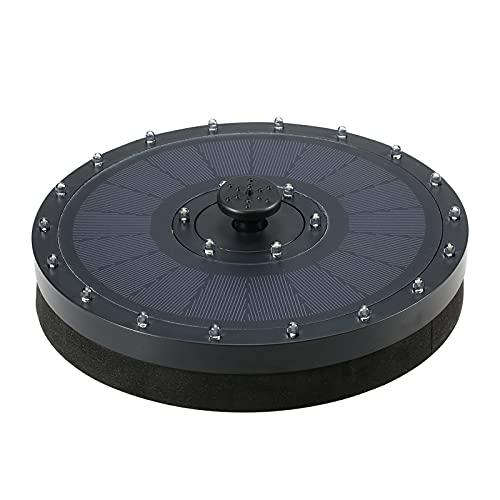 Nesface 3,5-W-LED-Solar-Schwimmbrunnenpumpe mit 24-LED-Licht 2000 mAh Batteriefreie stehende Vogelbad-Springbrunnenpumpe mit 7 Düsen für den Vogelbad-Gartenteich Patio Water Cycling