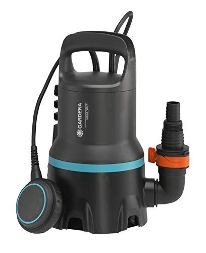 GARDENA Schmutzwasser-Tauchpumpe 9000: Tauchpumpe mit Fördermenge 9.000 l/h, Automatic-Funktion, Schwimmschalter mit Dauerlauffunktion, Schmutzpartikel bis zu 25 mm, Schnellkupplungssystem