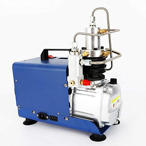 Elektrische Druckluft Kompressor - Tragbarer PCP Luft Kompressor, Automatisch Luftkompressor Pumpe für die Aufblasflasche, PCP Inflator Pneumatische Luftpistole Tauchergewehr(30Mpa 1.8KW 2800RPM)
