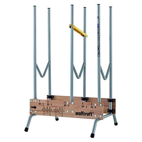 Wolfcraft 1 Sägebock 5121000 - zusammenklappbar / Robuster & stabiler Holzbock zum schnellen Zuschneiden von...